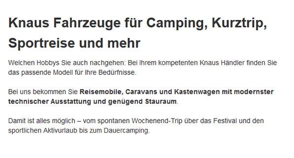 Campingfahrzeuge für  Gäufelden