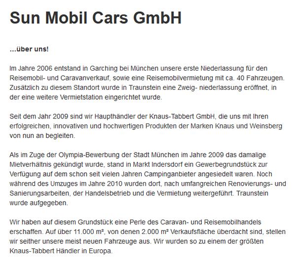 Reisemobil-Caravanverkauf in  Tussenhausen