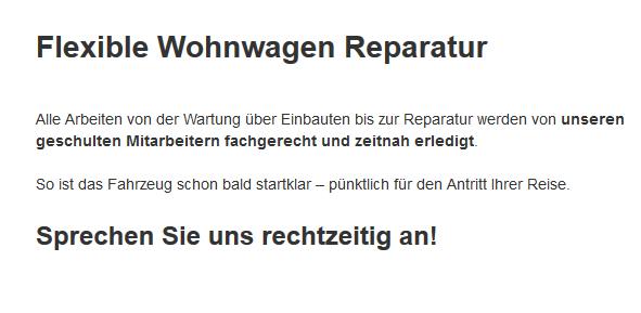 Wohnmobil-Reparatur aus 86874 Tussenhausen