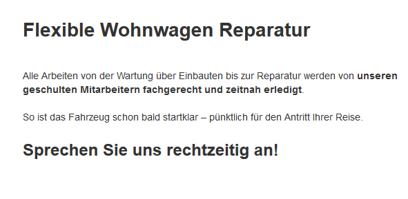 Wohnmobil-Reparatur aus  Mittenwalde