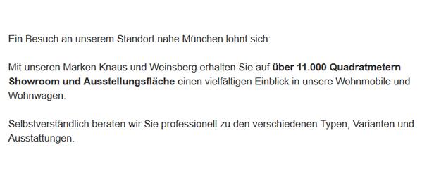 Wohnmobile für 83104 Tuntenhausen - Wilpasing, Schlafthal, Pangraz, Ostermünchen, Oed, Oberrain oder Nordhof, Neureith, Mühlholz