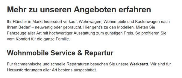 Wohnwagen-Händler  aus  Tussenhausen