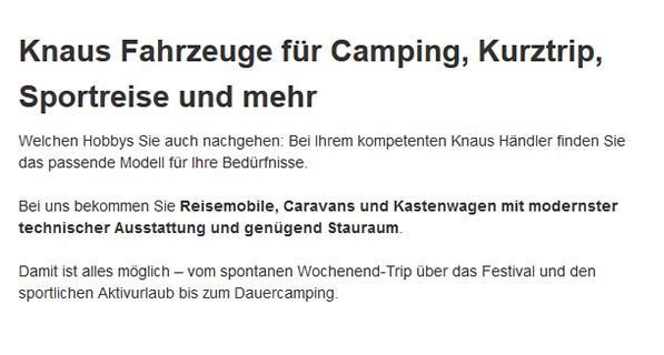 Campingfahrzeuge in  Oberhausen