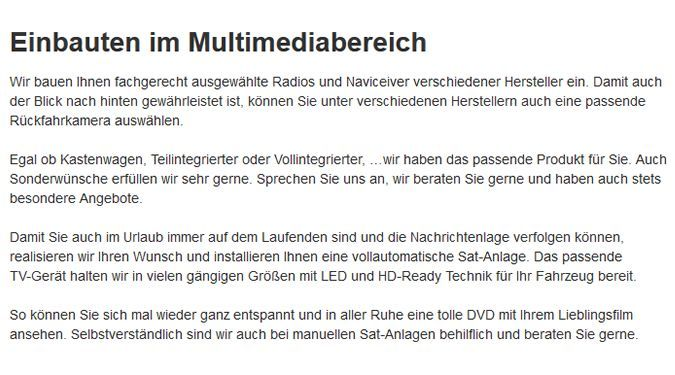 Multimedia-Einbau in  Dörverden