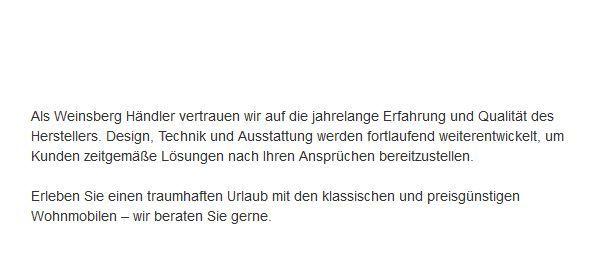 Weinsberg-Wohnwagen für  Leverkusen