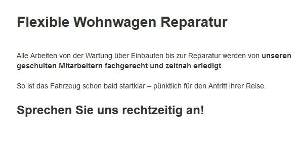 Wohnmobil-Reparatur in  Bad Salzdetfurth