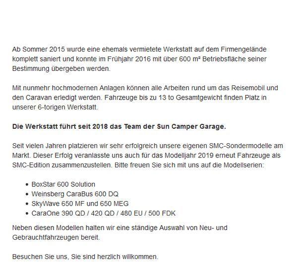 Wohnmobil-Werkstatt für  Chemnitz