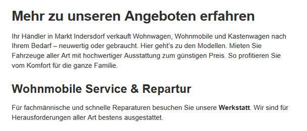 Wohnwagen-Händler